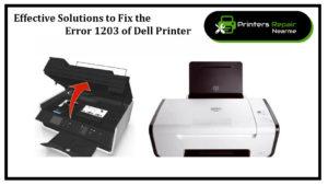 Fix dell printer error 1203